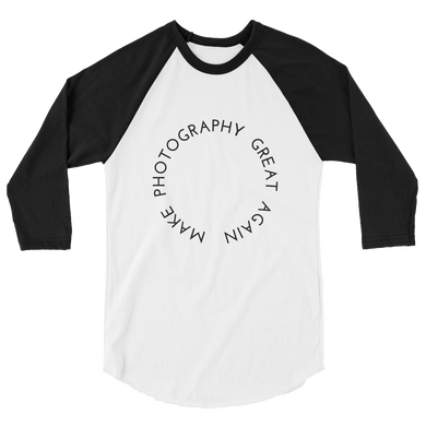 Make Photography Great Again - Men's/Unisex 3/4 Sleeve Raglan T-Shirt - Yohann LIBOT