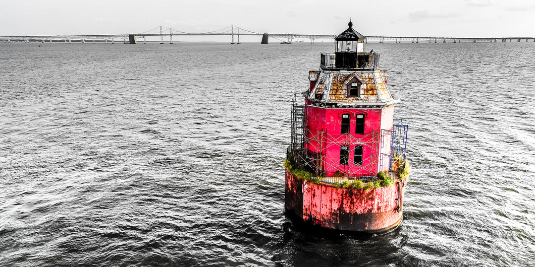 Sandy Point Shoal Light - Accent Red (Annapolis, MD)
