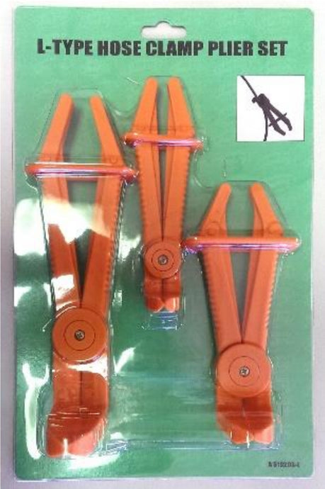 3pc Flexible Line Clamp Set L-Type 90°
