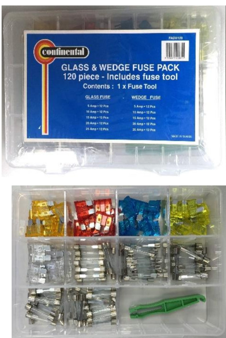 Fuse Assortment Glass/Wedge 120pc