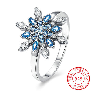 925 Sterling Silver Ring 925 silver rings Gorgeous snowflake diamond ring