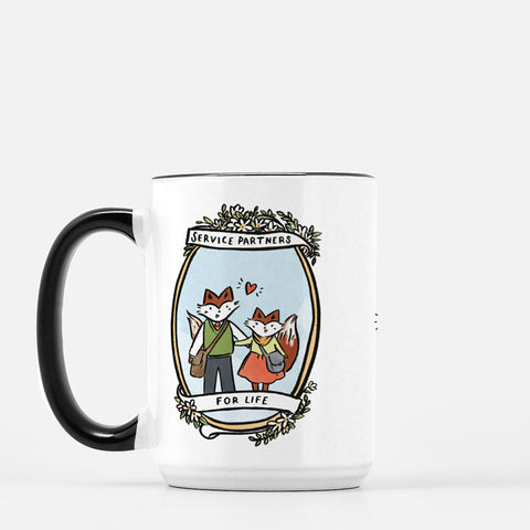 15oz Service Partners Fox Couple Mug
