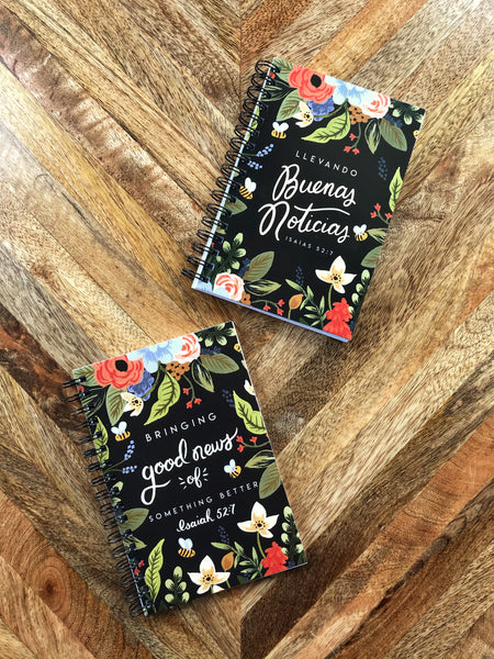 Return Visit Notebook GIFT SET - Dark Bee Floral, Field Service Records, JW Gift