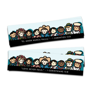 Love Never Fails 1 Corinthians 13:8 Worldwide Brotherhood Convention Bookmark