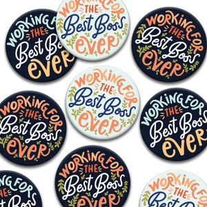 Working For The Best Boss Ever Pin Badges - LDC, Bethel, Pioneer, SKE Gift