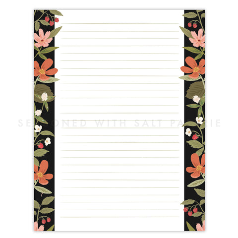 Summer Raspberries Letter Writing Pad