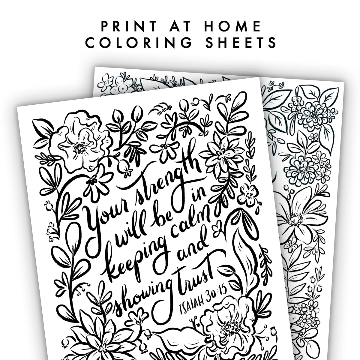 Print At Home Floral Coloring Sheets