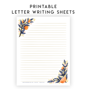 "Printable Letter Writing Sheets - No Resident Will Say ""I am sick"" - Isaiah 33:24"