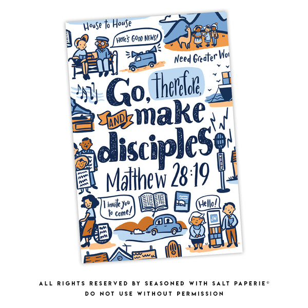 English - GIFT SET WITH PEN - Return Visit Notebook - Go Therefore and Make Disciples Matthew 28:19