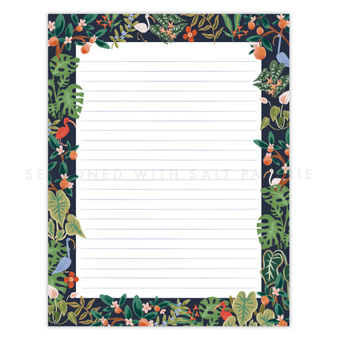 Florida Foliage Letter Writing Pad