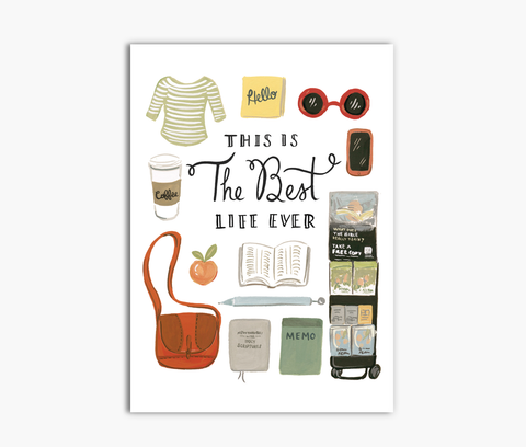 Best Life Ever 5x7 JW Greeting Card