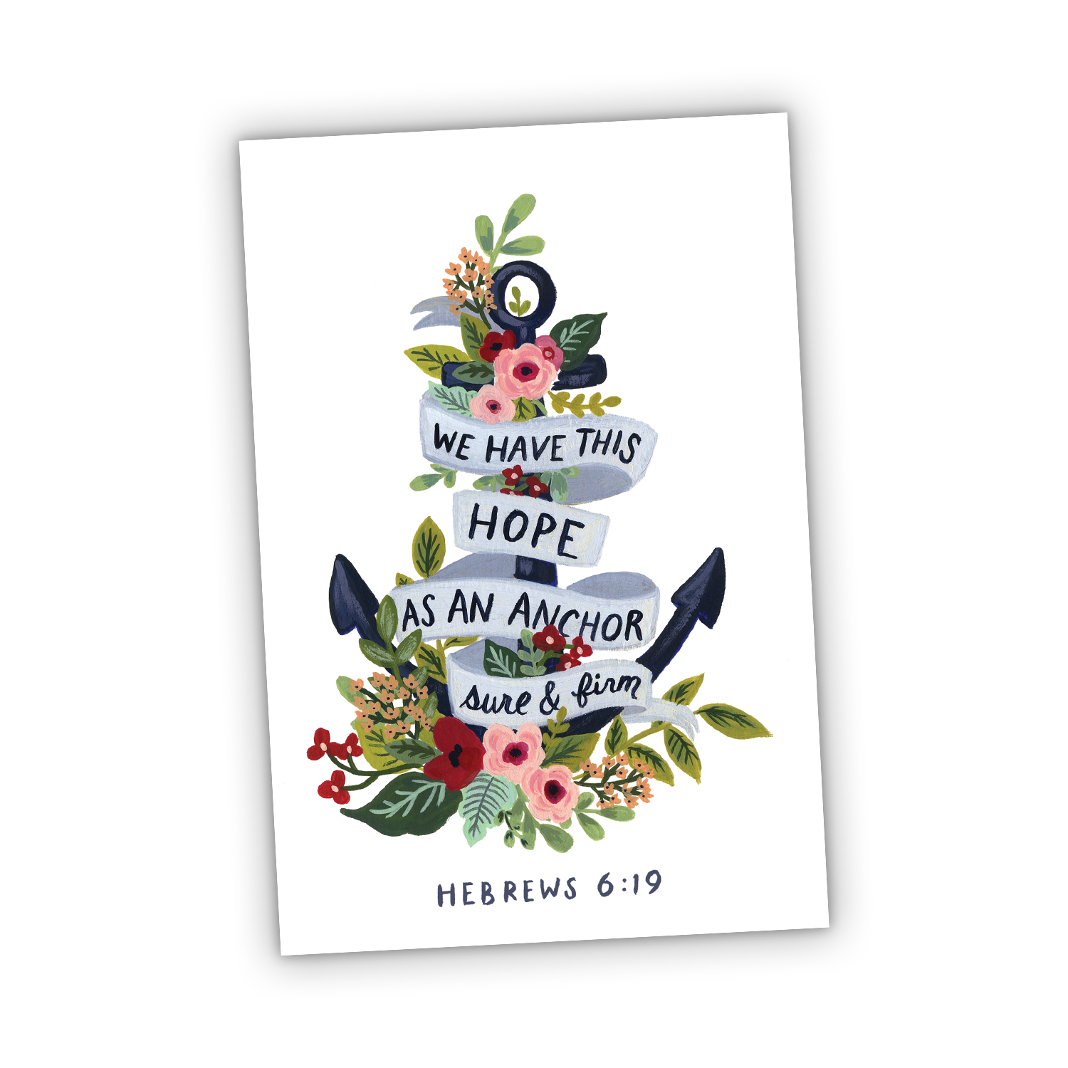 Greeting Card - Hope is an Anchor for The Soul - Hebrews 6:19