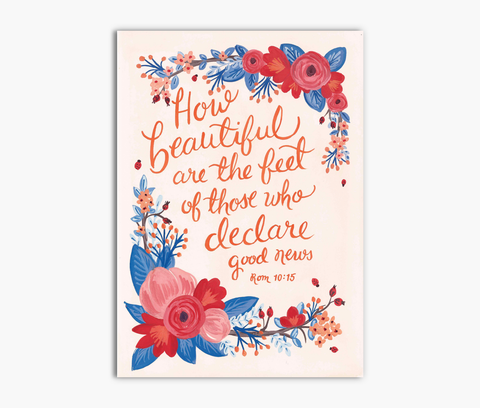 Declare Good News Romans 10:15 Greeting Card