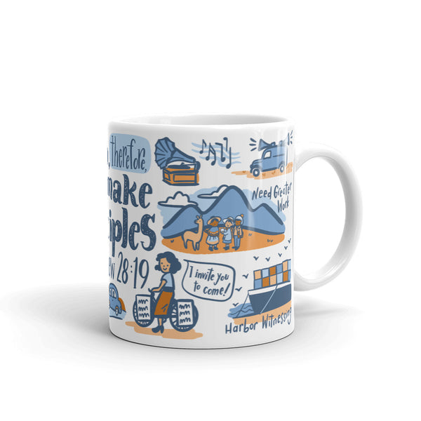ENGLISH - Go Therefore and Make Disciples Matthew 28:19 Pioneer Mug