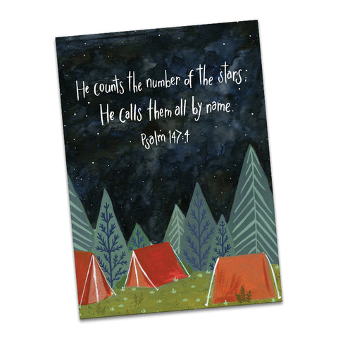Psalm 147:4 He Counts the Number of the Stars Greeting Card