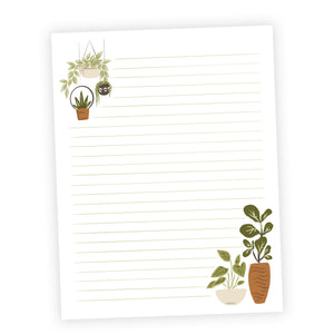 Houseplants Printable Letter Writing Sheets