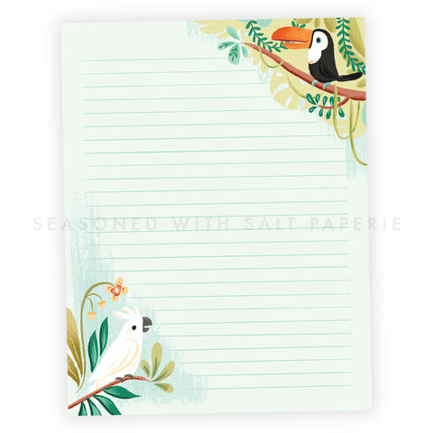 Jungle Birds Letter Writing Pad