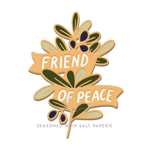 Friend of Peace Olive Branch Hard Enamel Pin