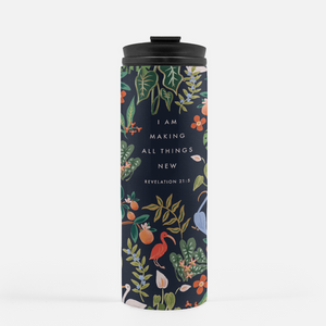 Florida Floral - I Am Making All Things New Travel Tumbler