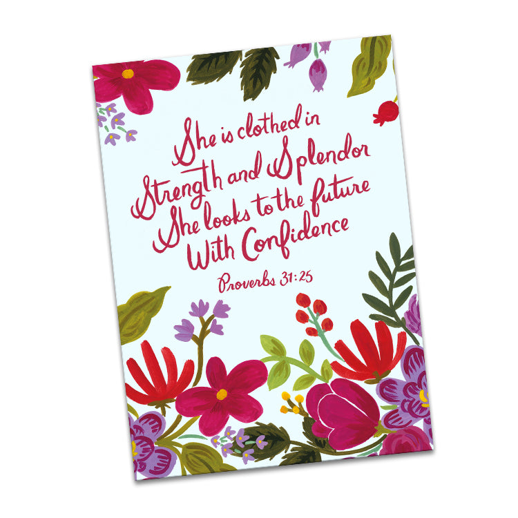 She is Clothed in Strength and Splendor Greeting Card