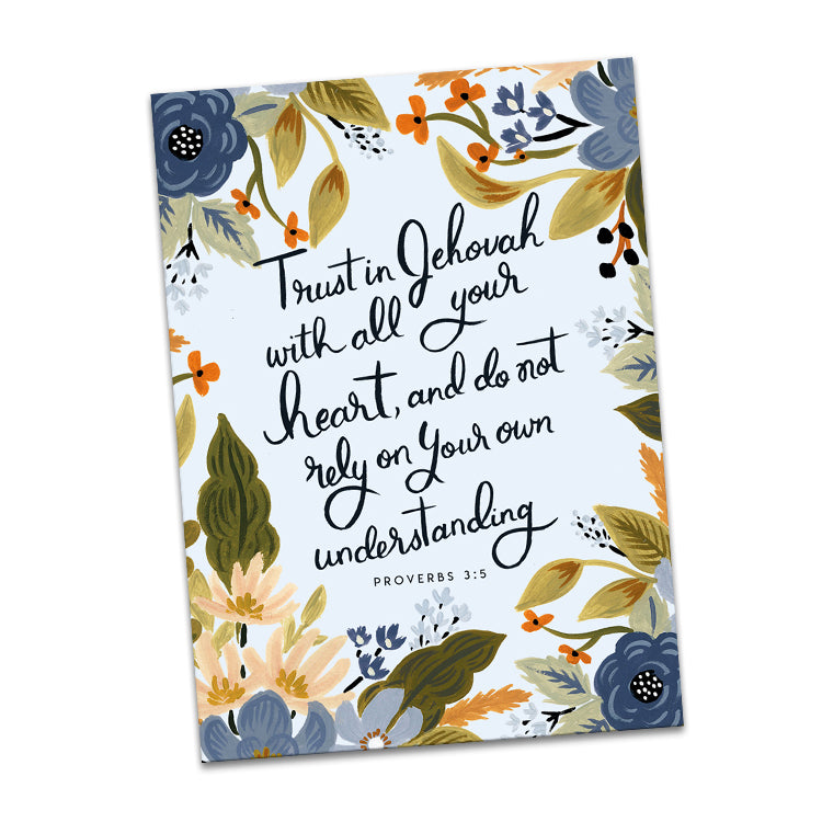 Proverbs 3:5 Trust in Jehovah Greeting Card
