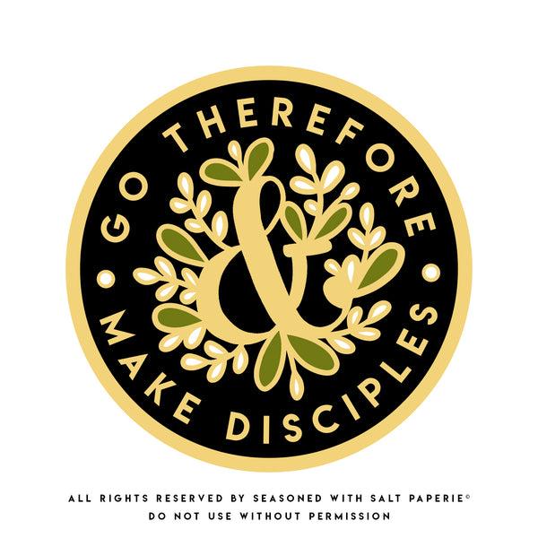 ENGLISH - Go Therefore and Make Disciples JW Enamel Pin