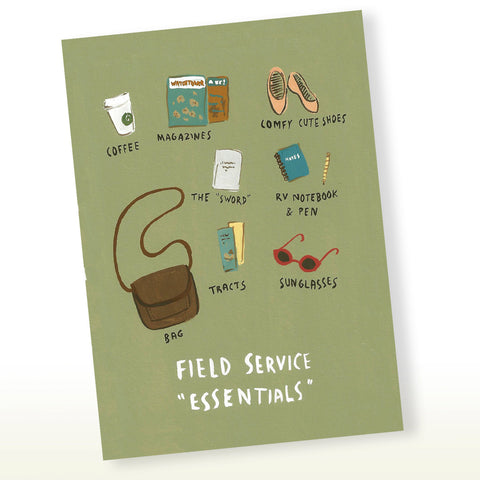JW - Field Service Essentials Greeting Card, JW Gift, Pioneer Gift