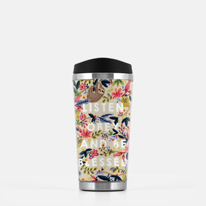 Listen, Obey and Be Blessed Stainless Steel Travel Mug