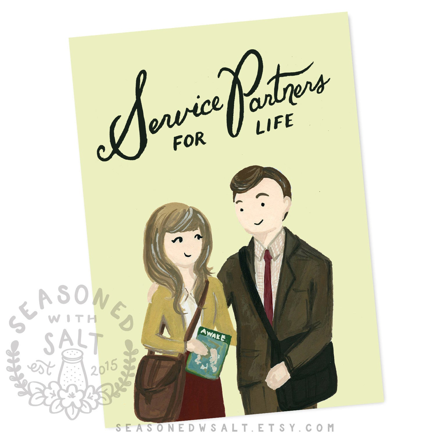 Service Partners For Life 5x7 Jw Greeting Card Seasoned With Salt