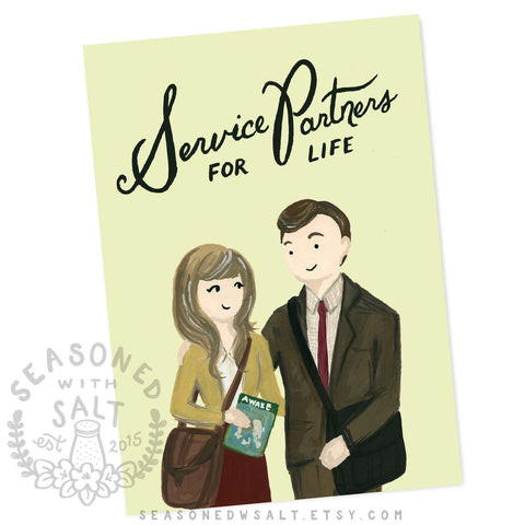Service Partners for Life 5x7 JW Greeting Card