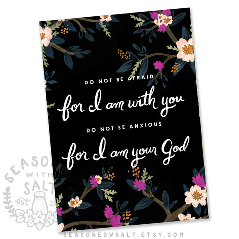 Do Not Be Afraid Isaiah 41:10, 13 Greeting Card