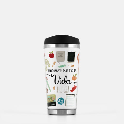 Spanish No Hay Mejor Vida Best Life Ever Stainless Steel Travel Mug