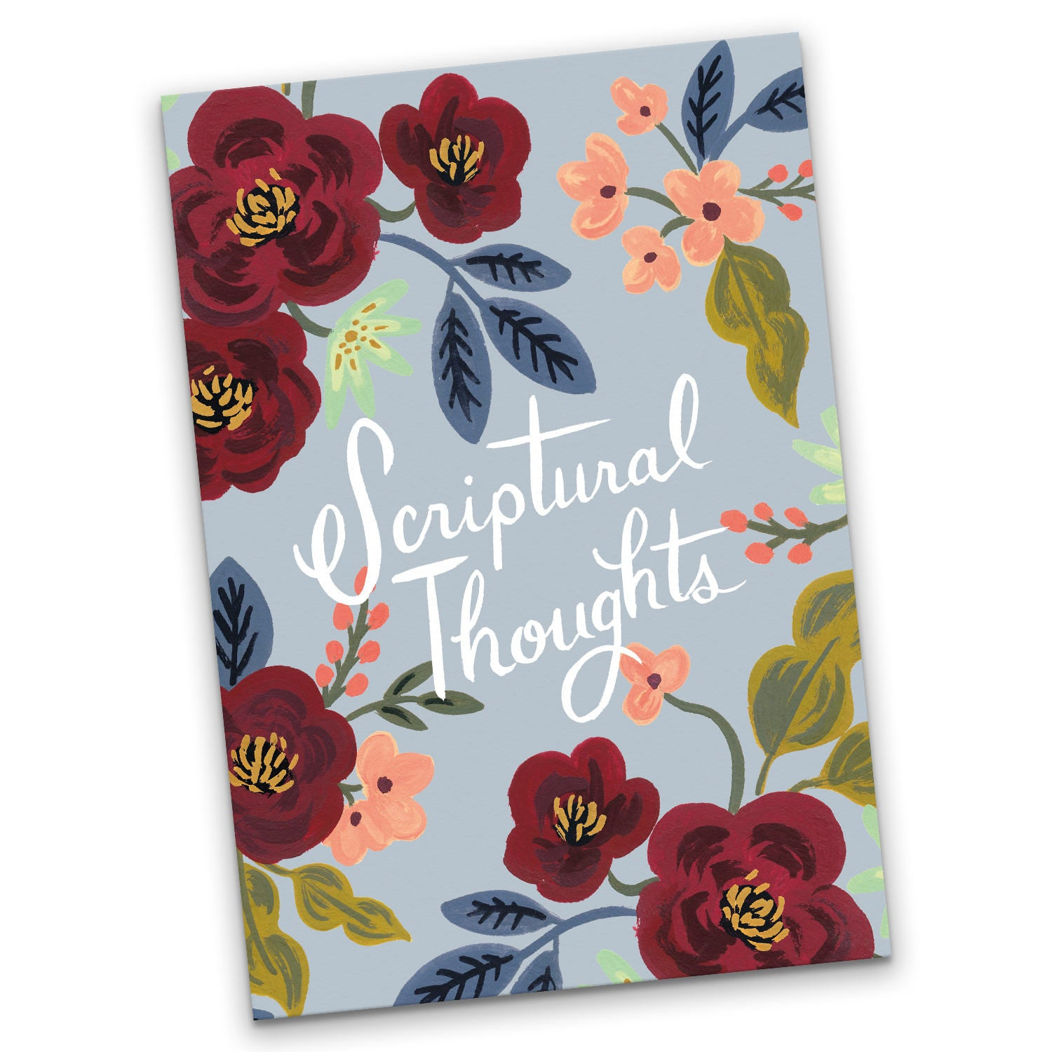 French Blue Scriptural Thoughts A5 Notebook