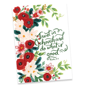 Trust in jehovah and do what is good psalm 373 greeting card trust in jehovah and do what is good psalm 373 greeting card m4hsunfo