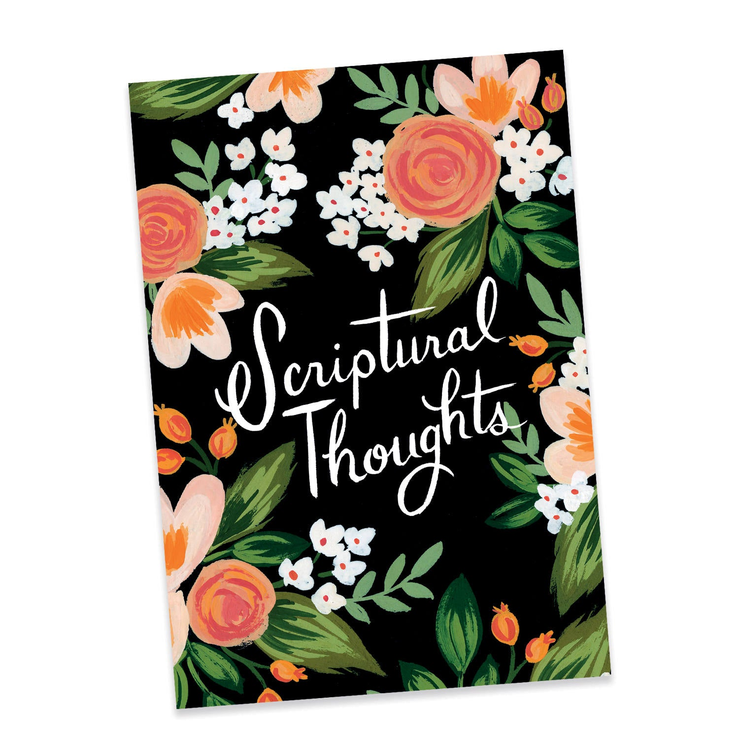 A5 Notebook Peach Floral Scriptural Thoughts