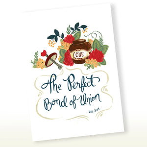 Love - The Perfect Bond of Union - Colossians 3:14 Greeting Card