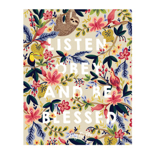 Listen, Obey and Be Blessed Jungle JW Art Print