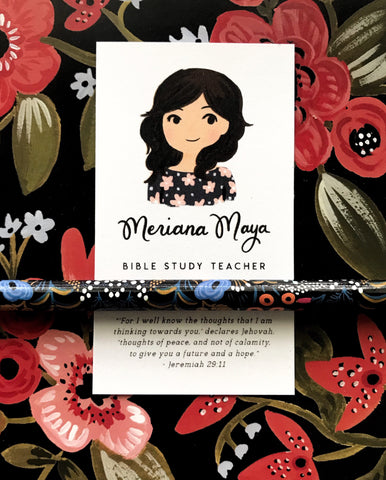 Custom Portrait Contact Card
