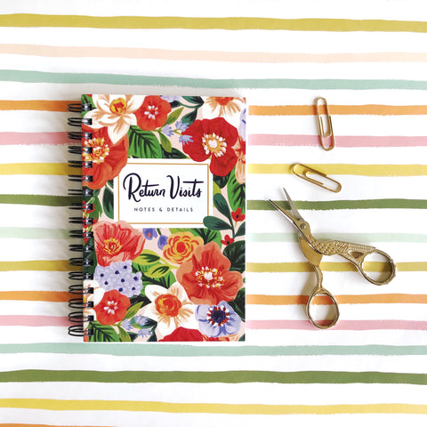ENGLISH Return Visit Notebook - Rejoice Florals