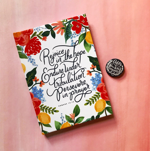 Romans 12:12 Hardcover Notebook Journal 2
