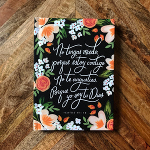 Spanish - Isaiah 41:10 Hardcover Lined Journal Notebook