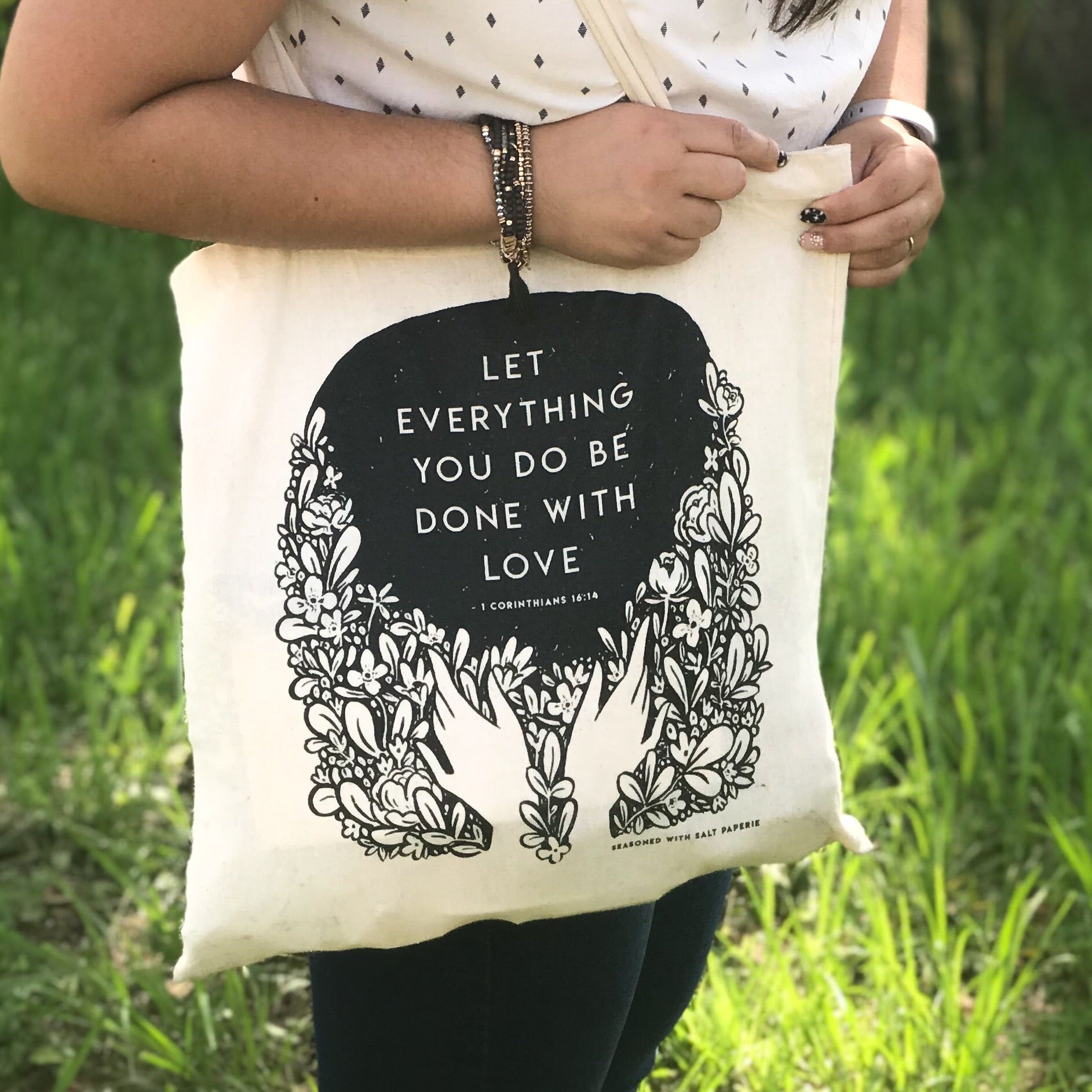 Let Everything You Do Be Done With Love 1 Corinthians 16:14 JW Tote Bag, Baptism And Pioneer Gift