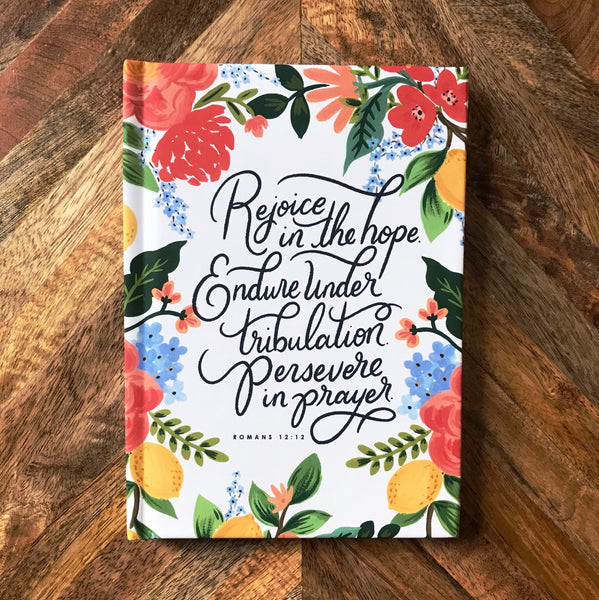 Romans 12:12 Hardcover Journal Notebook 1