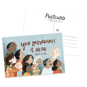 Your Deliverance is Near Luke 21:28 Postcard