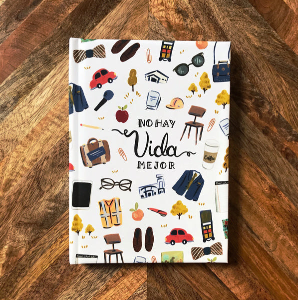 Spanish No Hay Vida Mejor / Best Life Ever Hardcover Lined Journal Notebook