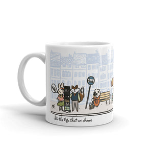 10oz Ceramic Mug Preaching Scene With Animals, JW Gift, Best Life Ever, JW Mug