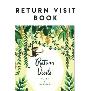 Return Visit Notebook - Rejoice In The Hope Jungle , Field Service Records, JW Gift