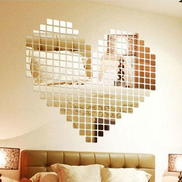3D Mirror Effect Wall Sticker 100pcs