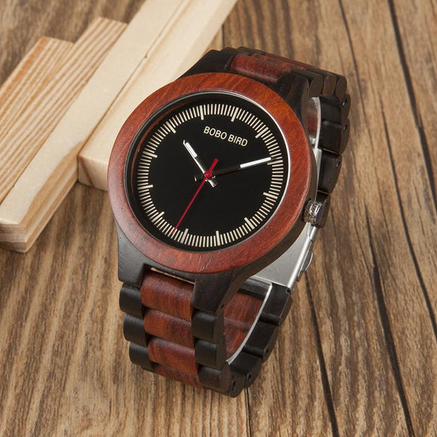 Ebony Rose Wooden Watch