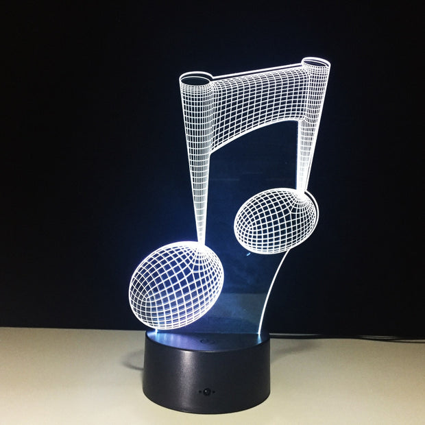3D Led Effect Muzieknoot